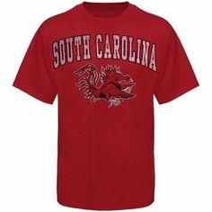 (Mark) South Carolina Gamecocks Garnet Big Arch 'n Logo Distressed T-shirt