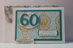Karte zum 60 jährigen Ehejubiläum mit aufgepimtem Umschlag