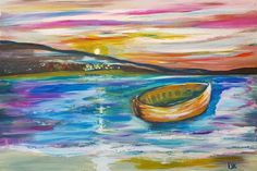 Drifting x Canvas - By artist Deborah Kala. Inspired from living on the Greek Islands. Those great long glistening sunsets, and the rest is for the imagination of the viewer from our collectin of hand-painted artworks. Greek Islands, Sunsets, Canvas Wall Art, Imagination, Artworks, Rest, Hand Painted, Inspired, Lifestyle