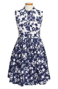 Oscar de la Renta 'Saville Garden' Sleeveless Dress (Little Girls & Big Girls) available at #Nordstrom