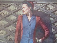 vintage knitting book 1940s vintage by thespectaclednewt on Etsy, $25.00