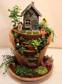 SEVERAL CREATIVE FAIRY GARDEN IDEAS Do you do projects in school to inspire creative writing? These gardens could integrate science and creative writing. Kids love little things! See them here: http://a4tt.us/CreativeFairyGarden photo credit: The WHOot