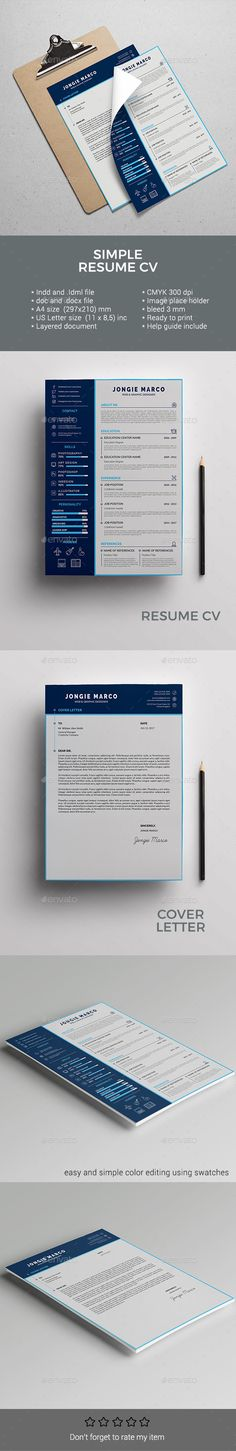CardBased Ui Resume  Indesign Indd Futuristic Cards