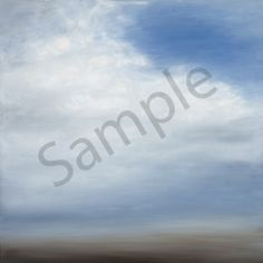 Coastal Fog II - Prices start at $75. Reproduction of an original oil on canvas painting by Tricia Strickfaden. Available as fine art giclee on canvas or watercolor paper print. Custom sizes and crops available upon request. Hand-signed by the artist. A misty fog rolling onto the coastline of Manhattan Beach.