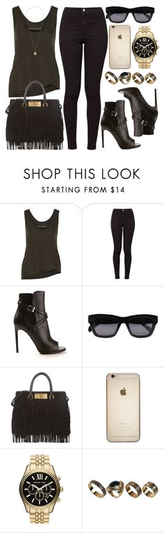 """""""Style #9169"""" by vany-alvarado ❤ liked on Polyvore featuring Enza Costa, American Apparel, Yves Saint Laurent, CÉLINE, MICHAEL Michael Kors, ALDO and Dorothy Perkins"""
