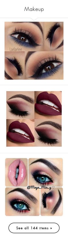 """Makeup"" by mildabas ❤ liked on Polyvore featuring jewelry, earrings, beauty products, makeup, eyes, lips, lipstick, make, eye makeup and polish makeup"