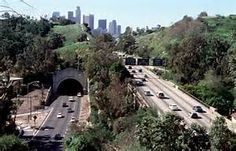 LA's first freeway - Arroyo Seco aka the 110 south from Pasadena to DTLA