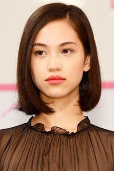 Asian Short Cute Bob Hairstyle