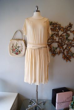Gorgeous 1920's silk chiffon wedding dress