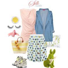 Be colorful and joyful! #spring #easter #outfitidea Silk&Milk #jerseytop #denimparka #reebok #reeboklv #breastfeedingdress #mommylook #breastfeeding #nursing #nursingdress #formom #happybaby #happymom