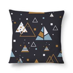 Almofada ANOMETRIC TRIANGLE de jefersoncalongana #colab55. Tags: triangulo isométrico Sofa Cushions, Throw Pillows, Triangle, Tags, Bed, Couch Pillows, Sofa Pillows, Toss Pillows, Cushions