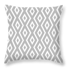 """Silver Pattern Throw Pillow by Christina Rollo. Our throw pillows are made from 100% spun polyester poplin fabric and add a stylish statement to any room. Pillows are available in sizes from 14"""" x 14"""" up to 26"""" x 26"""". Each pillow is printed on both sides (same image) and includes a concealed zipper and removable insert (if selected) for easy cleaning."""