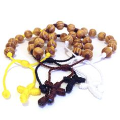 Hand Made Knotted Rosary Bracelet with Burlywood by UncommonEmpire
