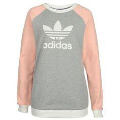 adidas Originals Fun Sweater - Women's - Medium Grey Heather/Haze Coral