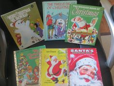 Lot of Little Golden and Wonder Books Christmas Santa's Surprise Santa's Workshop Christmas Treasury 12 Days of Xmas Merry Xmas by HolySerendipity on Etsy