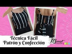 #30 📐✂Así de FÁCIL se hace un CROP TOP/sin overlock ni cremallera 😏👌 - YouTube Sewing Hacks, Sewing Tutorials, Kurta Neck Design, Corset, Fashion Dresses, Youtube, Crop Tops, Blouse, Pattern