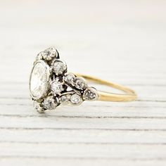 Vintage engagement ring. Would love to have a vintage promise ring like this, then a modern engagement ring.