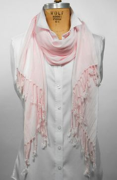 Women's scarf - Pale Pink