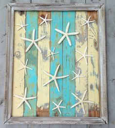 Framed Reclaimed Wood Starfish Art by My Honeypickles