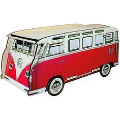 Briefkasten VW-Bus rot/weiss Werkhaus Bulli T1 Samba Post-Box NEU
