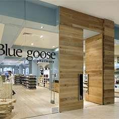 Blue Goose pharmacy by Red Design Group, Melbourne store design Red Design, Design Blog, Store Design, Retail Facade, Shop Facade, Melbourne, Blue Wall Colors, Retail Interior Design, Facade Design