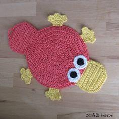 platypus potholder: free #crochet #pattern