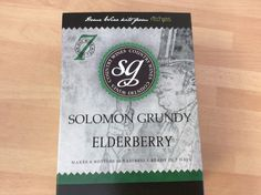 Solomon Grundy Elderberry  WINE kit 6 bottles 7 days FREEPOST UK