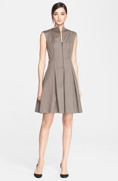 Akris punto Stretch Cotton Twill Fit & Flare Dress available at #Nordstrom