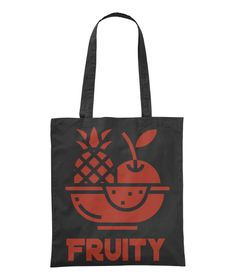 Pineapple and apple in a bowl: Fruity Abstract Tote bag. Available in different colours. Canvas Tote Bags, Pineapple, Reusable Tote Bags, Colours, Abstract, Summary, Pine Apple, Canvas Totes