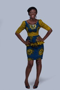 New Ankara style - Ankara Tops and Skirts African Dresses For Women, African Print Dresses, African Attire, African Wear, African Women, African Prints, African Inspired Fashion, African Print Fashion, Africa Fashion