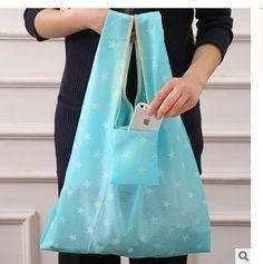 1932 folding environmental protection supermarket shopping bag Oxford cloth portable striped Star printing storage bag #Affiliate