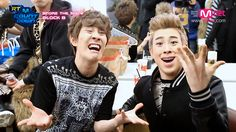 Kyung & P.O. being derps.... Kyung makes that face a loooot. X'D