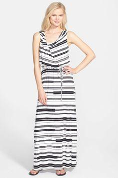 Ivanka Trump Print Cowl Neck Jersey Maxi Dress by Ivanka Trump on @nordstrom_rack