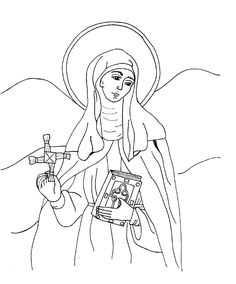 St Brigid Catholic Coloring page.  Feast day is February 1st