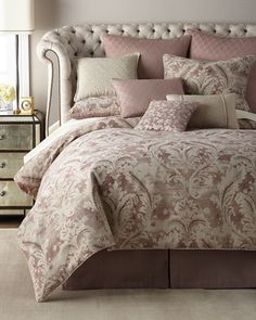 Victoria+Orchid+King+Comforter+Set++and+Matching+Items+by+Waterford+at+Neiman+Marcus.