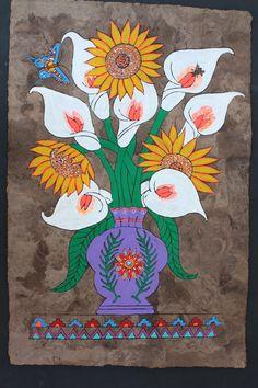 57 ideas folk art painting flowers products for 2019 Posters Geek, Art Deco Posters, Folk Art Flowers, Flower Art, Painting Flowers, Mexican Paintings, 8th Grade Art, Art Manga, Art Costume