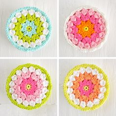 Color 'n Cream showcases these stunning flower coasters on...