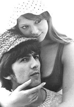 1966 - George Harrison and his ex-wife Pattie Boyd, honeymoon.