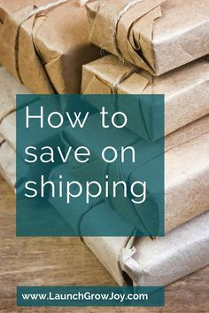 Are shipping charges in your business adding up quickly? Here are two things you can do to save on shipping charges.
