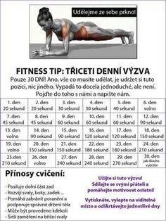 30 denní výzvy - Life by Tess♥ - Hryprodivky. Yoga Fitness, Fitness Tips, Health Fitness, Training Programs, Workout Programs, Dance Program, 30 Day Challenge, Excercise, Fitness Inspiration