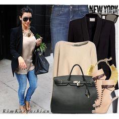 """""""Celebrity Look: Kim Kardashian"""" by marymary91 on Polyvore"""