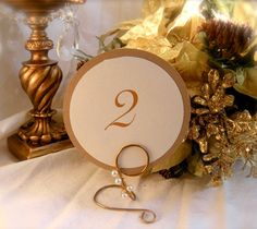 Pearl Table Number Holders Reception Decor by HomesAndWeddings, $100.00