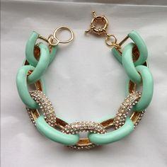 Mint/Pave Link Bracelet OS from Fran's closet on Poshmark