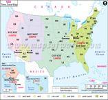 Eastern Time Zone Map MIINOHWVVANCSCGAFLNYPADLNJDE - Usa map time zones states