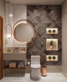 Washroom Design, Toilet Design, Bathroom Design Luxury, Modern Bathroom Design, Bathroom Design Inspiration, Bad Inspiration, Design Ideas, Ideas Baños, Decor Ideas