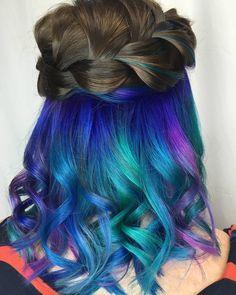 "83 Likes, 2 Comments - Hair Candy LLC✂️ (@haircandymd) on Instagram: ""Beautiful underlights combo #UNDERLIGHTS #mermaidhair #mermaid #maryland #dmvstylists #delmarva…"""