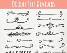 Text divider Clip Art 63 vintage design elements by Lebondesign