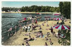 Postcards - Canada # 96 - Plage, Lac Rose, Quebec