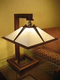 Frank Lloyd Wright Inspired Lamp