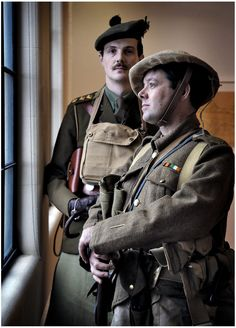 Museum Galleries Scotland hosted an event helping Scottish Museums develop plans to mark the centenary of WWI. Attended by 100 organisations, including Dave Clarke and Andrews Deans, dressed as Gordon Highlanders from 1914 - 1918. (picture: Paul Dodds).